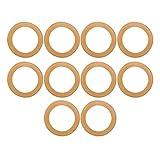 Les-Theresa Accesorios de bomba aislados de anillo de pistón de goma de 10 piezas para compresor de aire silencioso sin aceite de 550 w