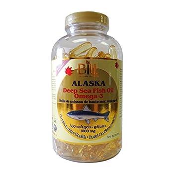 Alaska Deep Sea Fish Oil Omega-3 300 Softgels Bill Natural Sources