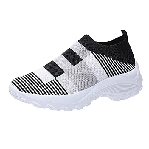 URIBAKY - Zapatillas de deporte para mujer, color mezclado, para runing, runing, zapatillas de malla transpirables, zapatillas de deporte, Le Noir, 42 EU