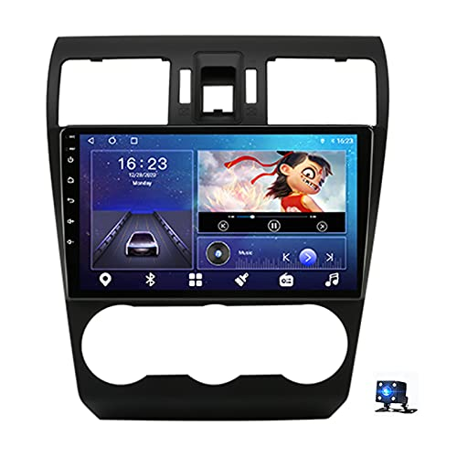 Android 10.0 Car Stereo Sat Nav Radio Reproductor de video multimedia con pantalla táctil para Subaru Forester 2012-2015 Soporte Bluetooth USB WIFI 4G GPS Mirror(Size:cuatro nucleos,Color:WiFi 1G+16G)