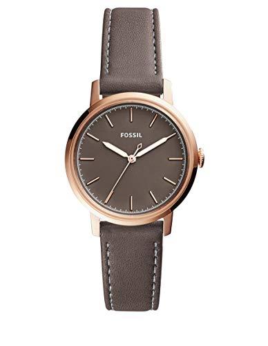 Fossil Women's Neely Quartz Leather Watch, Color: Grey, 16 (Model: ES4339)