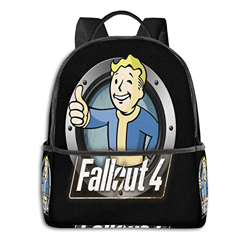 Fallout 4 Logo Youth 17 Inch Computer Backpack Foldablebackpack With Usb College Students Travel Handbags