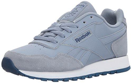 Reebok Women's Classic Harman Run Sneaker, rain Cloud/Washed Blue/White, 9.5 M US