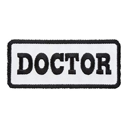 Doctor White & Black Patch, Medical Profession Patches