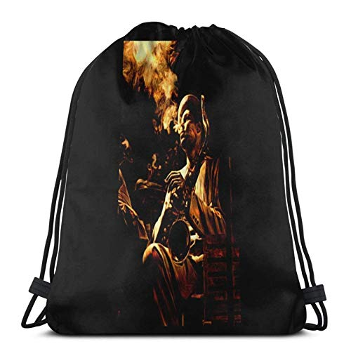 WH-CLA Cinch Bags Dexter G. Outdoor Sport Lightweight Cinch Bags Unique Durable Gift Sackpack Gym Bag Casual Girl Drawstring Backpack Print Anime Birthday Fitness Travel