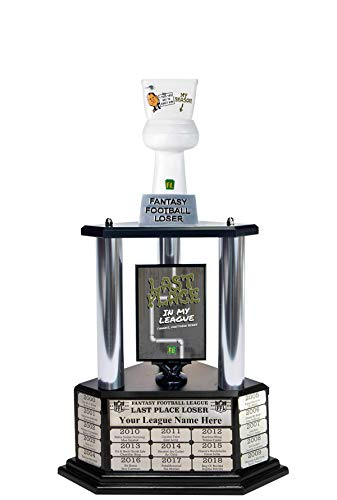 Matthew Berry's Toilet Fantasy Football Loser Trophy - 26' Tall with Free Engraving for up to 19 Years of Past Winners!