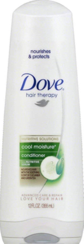 カップル眠っているヒントDove 髪の治療はモイスチャーコンディショナー、キュウリ&グリーンティー12オンス(9パック)クール