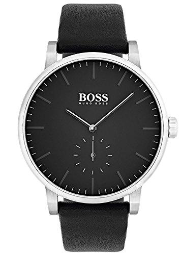 Hugo BOSS Reloj Analógico para Hombre de Cuarzo con Correa en Cuero 1513500