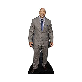 Star Cutouts Dwayne Johnson in Suit Cardboard Cutout Stand-Up Celebrity Life-Size Stand-In - 77  x 31