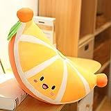 面白い漫画オレンジ型ぬいぐるみぬいぐるみかわいいフルーツぬいぐるみソフトドールソファクッションナップ枕女の子愛好家のためのギフト 黄