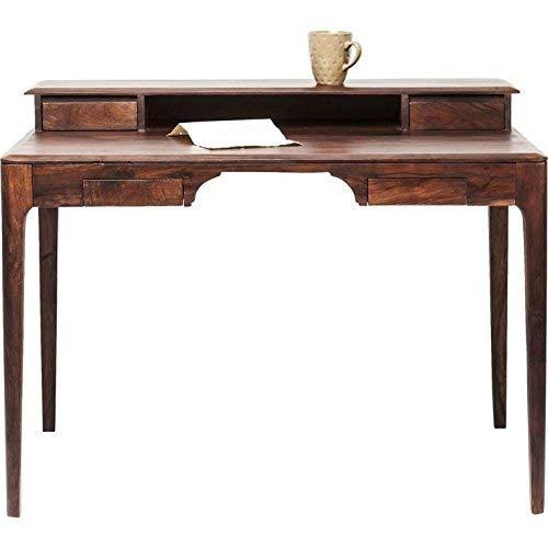 Kare Design Brooklyn Walnut Schreibtisch, 110 x 70 cm, Massivholz Schreibtisch, brauner Schreibtisch, (H/B/T) 85x110x70cm