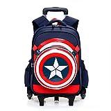 Spiderman Six Wheels Trolley Case School Bags Boy Oxford...