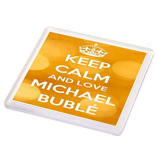 """Posavasos con texto en inglés""""Keep Calm And Love Michael Buble"""""""