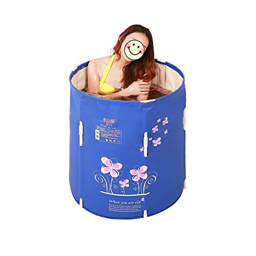 YONGJUN volwassene vouwbare dikke badkuip naar huis, baby kinderen opvouwbare draagbare badkuip, geïsoleerde badkuip in hoogte verstelbaar, blauw