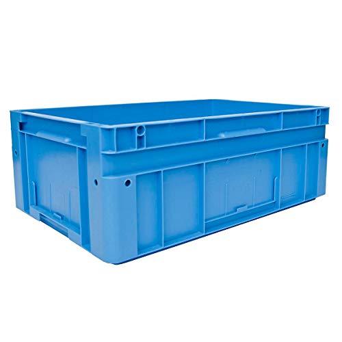 utz Euronorm-Stapelbehälter - Außen-LxBxH 600 x 400 x 220 mm - blau, VE 2 Stk - Box Euronorm Stapelkasten Euronorm Stapelkästen Euronorm-Stapelbehälter Euronorm-Stapelkasten Kiste Lagerkasten