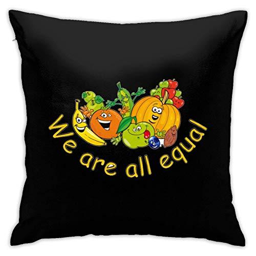 XCNGG Funda de Almohada, Funda de cojín para Silla, Funda de cojín para Coche Group of Fruit and Vegetables Throw Pillow Covers Cushion Cover Cases Pillowcases Sofa Home Decor 18 x 18 Inch 45cm