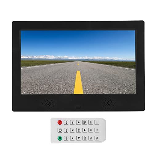 10 Inch Digital Picture Frame, Smart Electronic Photo Frame1024x600 Support MP3/MP4/Picture Playback Button/Infrared Remote Control(US)