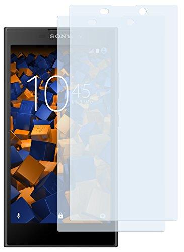 mumbi Schutzfolie kompatibel mit Sony Xperia L2 Folie klar, Bildschirmschutzfolie (2X)