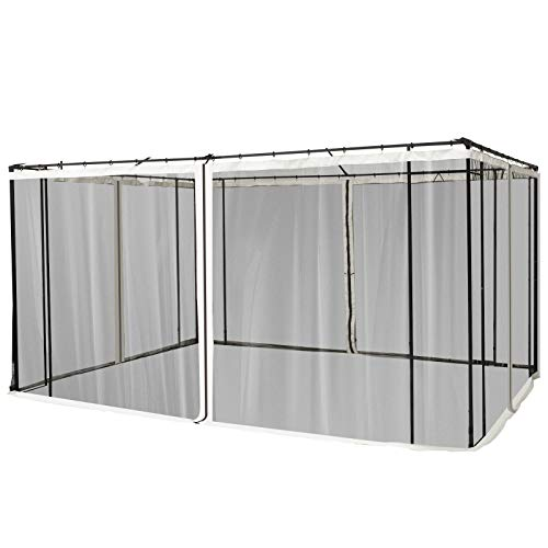 Nishore Replacement Mesh Mosquito Netting Screen Walls for 10' x 13' Patio Gazebo, 4-Panel Sidewalls with Zippers (Wall Only, Canopy Not Included)