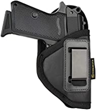 ​Kosibate S&W Bodyguard 380 Holster, IWB Holster PU Leather Concealed Carry Compatible with Ruger LCP II, Taurus TCP, Sig P238, Jimenez JA, PPK .380(Black)