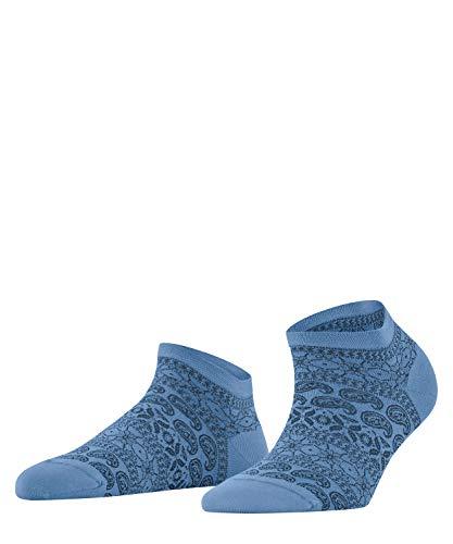 FALKE Damen Cultural Mix Sneakersocken, blau (Cornflower Blue 6554), 41-42