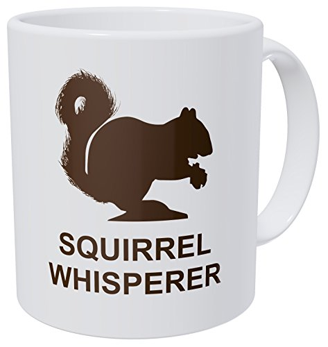 Squirrel Whisperer 11 Ounces Funny Coffee Mug By Aviento 490 Grams Ultra White AAA