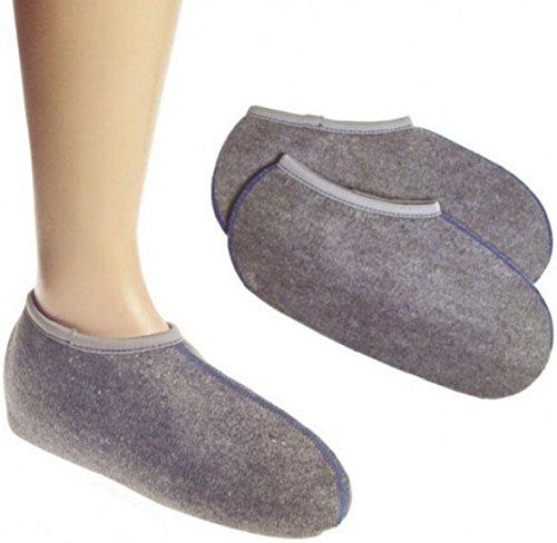 Wowerat Lot/2 paires Wowerat Lot Bottes Chaussettes Chaussettes (sogenannte crin), spécial Objet, Super chaud, allemande Ware 35 à 36, gris