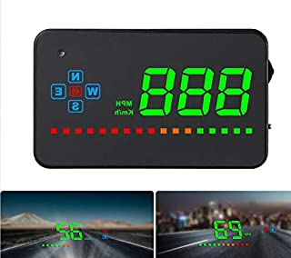 Car GPS Head Up Display, Windshild LED Projector, HUD Reflection Film, GPS Speedometer, Car Head-up Display, Plug and Play...