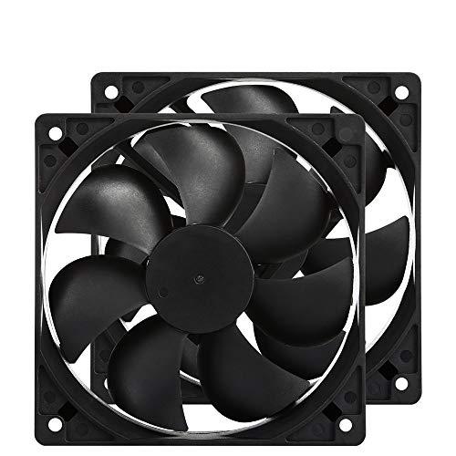 120mm Case Fan 120x120x25mm 12cm Computer PC Fan DC 12V 2Wire 3Pin Connector Cooling Fan 1600RPM 2-Pack