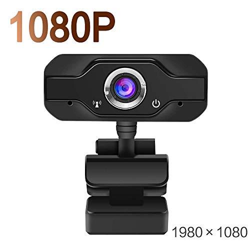 COJFEFG Cámara Web HD de 1080p, Drive-Libre de 360 ° de rotación con micrófono, Interfaz USB 2.0, for Las Llamadas de Video, computadoras, PC, Transmisión en Vivo