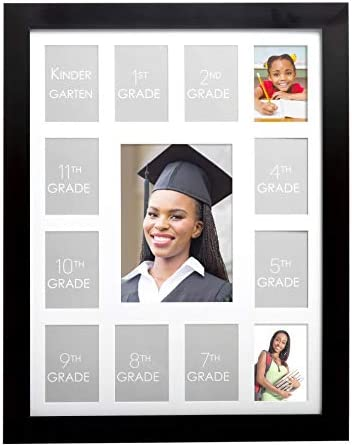 Kate Milo School Days Frame Holds 12 School Photos and Graduation Photo Graduation Party Decorations product image