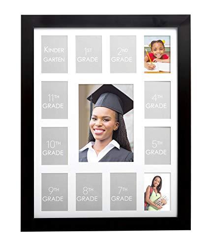 Kate & Milo School Days Frame, Holds 12 School Photos and Graduation Photo, Graduation Party Decorations