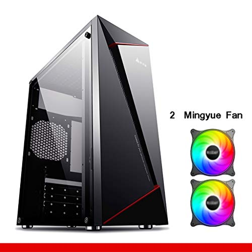 Gaming Computer PC Case For Desktop Computer PC Computer Case-Desktop Computer-ATX/MATX Full Side Through Mid-Tower Game Main Unit-Side Through Cool-Support Backline-Mid-Tower Tempered Glass Computer-