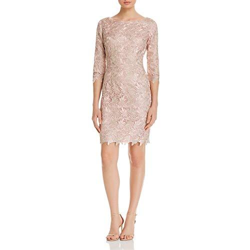 Eliza J Women's 3/4 Sleeve Lace Sheath Dress Special Occasion, Blush, 12
