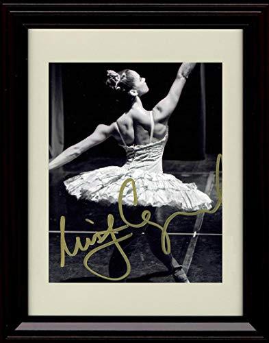 Framed Misty Copeland Autograph Replica Print - Gold