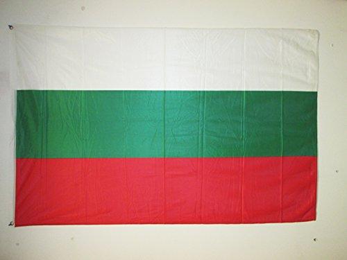 AZ FLAG Flagge BULGARIEN 150x90cm - BULGARISCHE Fahne 90 x 150 cm Aussenverwendung Metallösen - flaggen Top Qualität