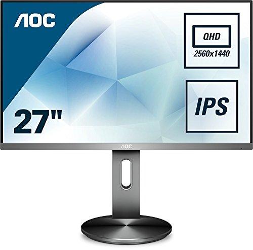 Aoc Q2790Pqu/Bt 68 Cm (27 Inch) Monitor (Wqhd, Hdmi, Usb Hub, 4 Ms Reactietijd, Displayport, 2560 X 1440, 60 Hz) Zwart