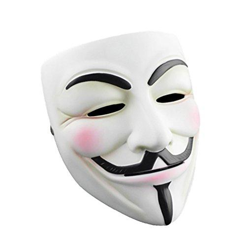 CIMERTY V for Vendetta Anonymous Guy Fawkes Resin Mask V for Vendetta Mask with Vinyl Sticker