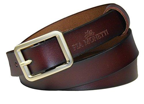 MONETTI FIA Cinturón de cuero para mujer, con moderna hebilla, ancho 2,3 cm