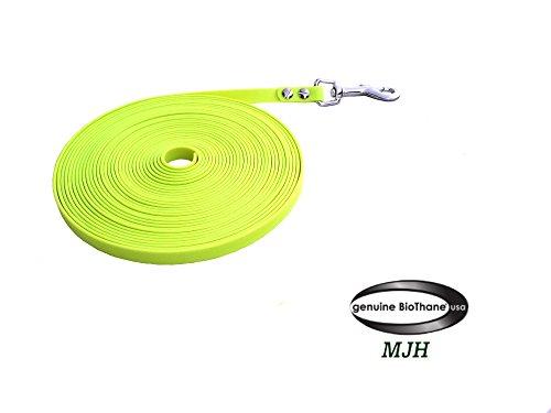 MJH BioThane Schleppleine 3m lang/9mm breit neon gelb ohne HS