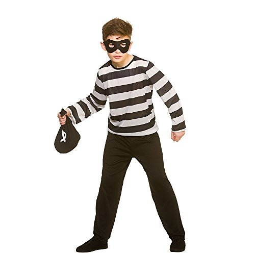 Wicked Costumes Disfraz de Robber Sneaky de tamaño Infantil Large 8-10 Years