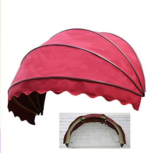 N \ A Patio Awning Romantic Watermelon Sun Shade Cover, Door Window Outdoor Canopy, Balcony Tent Rainproof Windproof Anti-UV Deck, 1 M in Diameter