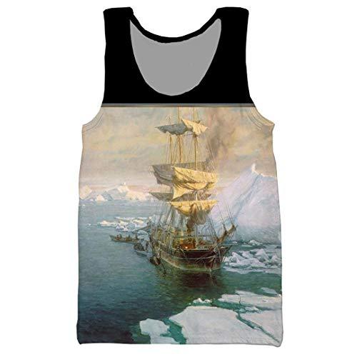 Kühle Erstaunliche Arktis Landschaft White Bear 3D-Druck Männer Frauen-T-Shirt/Pullover/Sweatshirts/Vest Tank Top L
