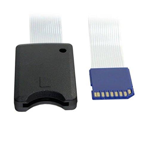 Goliton Standard SD SDHC Speicherkarten Kit Stecker auf SD weibliche Verlängerung weiches flaches FPC Kabel Extender 25cm - Schwarz