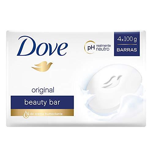 DOVE Jabón de tocador original 4 barras de 100 g c/u