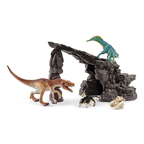 Schleich 41461 Dinosaurs Spielset - Dinoset mit Höhle, Spielzeug ab 5 Jahren