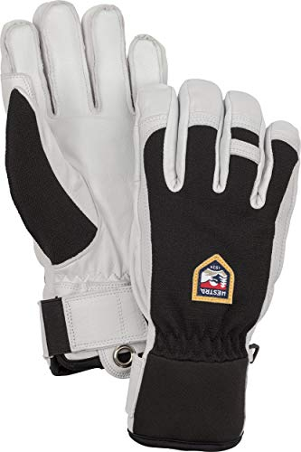 Hestra Skihandschuhe: Army Leather Patrol Winter Cold Weather Gloves, Black, 9