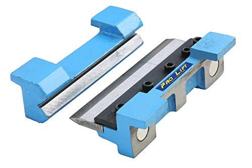 Pro-Lift-Werkzeuge Abkantbacken Biegebacken 150 mm mit Magnet Winkel-Bieger manuell Blechbiegearbeiten Schraubstock Schonbacken