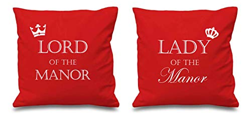 Lord Of The Manoir Lady Of The Manoir Rouge Housse Coussin 16\