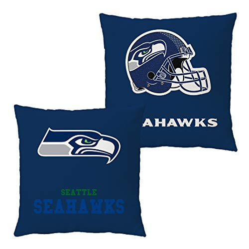 Doomfist Throw Pillow Covers Pillow Cases Pillowcase Double Faced Football Team with Zipper Without Insert 1 Set for Sofa, Car, Bed, Office Chair, Lumbar Support (Seattle Seahawks, 18x18 Inches)